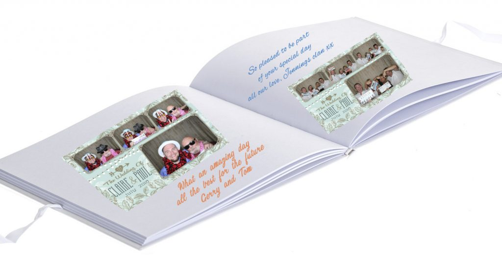 Hearts Guest Book Cover Inside web