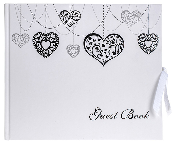 Hearts Guest Book Cover-web